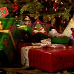 stock-footage-close-up-of-decorated-christmas-tree-with-wrapped-presents